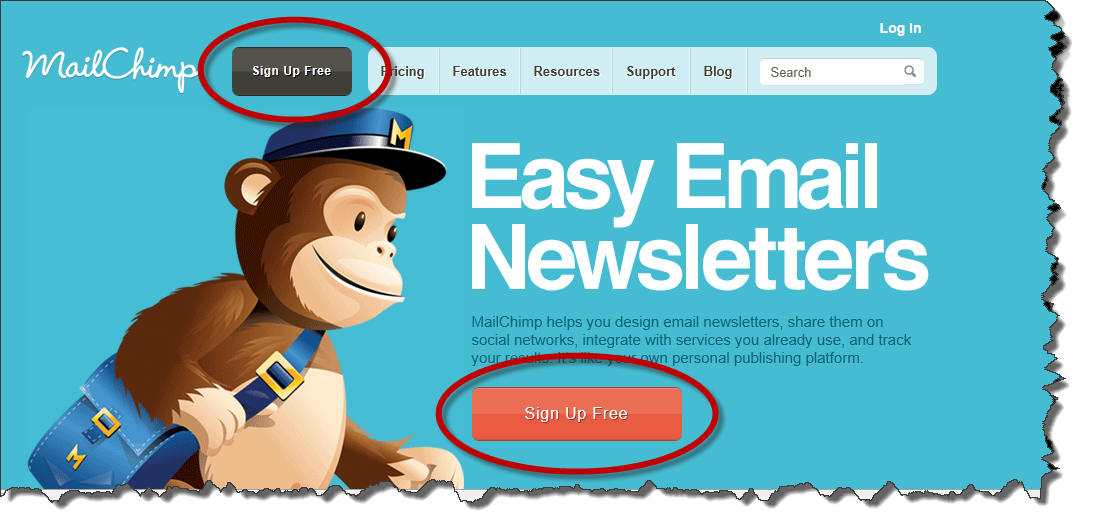 MailChimp Sign Up Call to Action Big Orange Button - Viral Invite