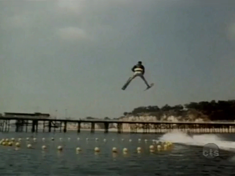 Fonzie jumping over the shark on Happy Days