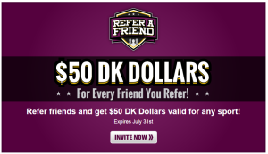 DraftKing DK Dollars Referral - Viral Incentive Marketing