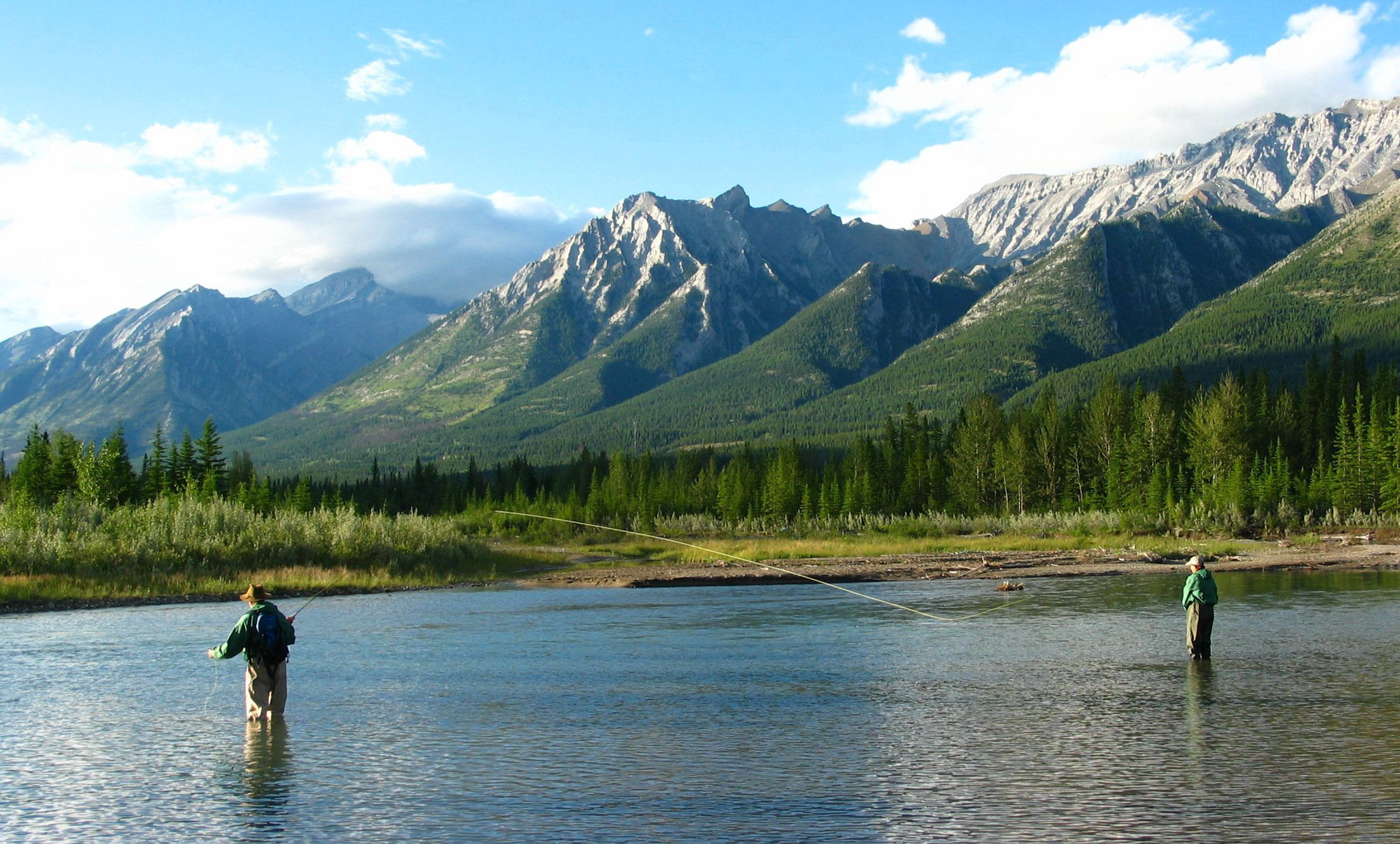 Fly Fishing Mountain Landscape - Viral Hook Marketing