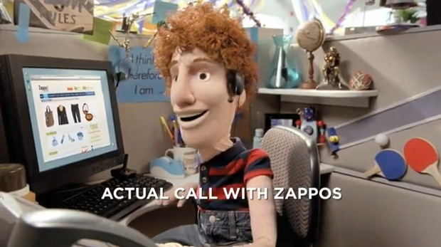Zappos Customer Service Call Commercial - Publicity Stunt Viral Marketing