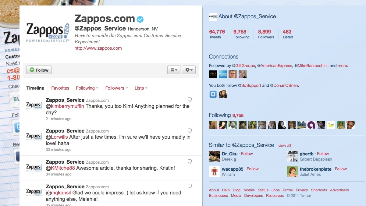 Zappos Twitter Customer Service - Viral Satisfaction Marketing