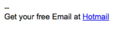 Hotmail Free Email Slogan