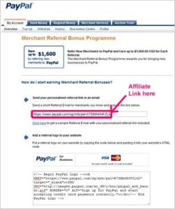 PayPal Affiliate Program
