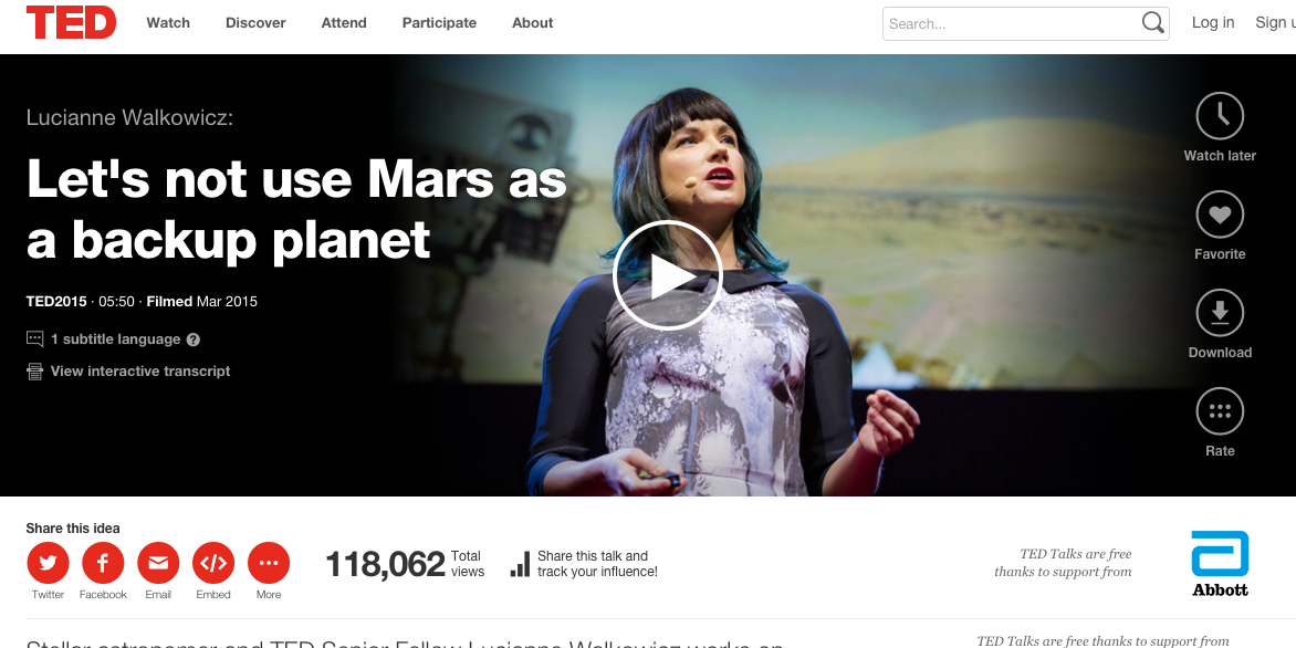 TED Talk Video Lucianne Walkowicz - Viral Media Marketing