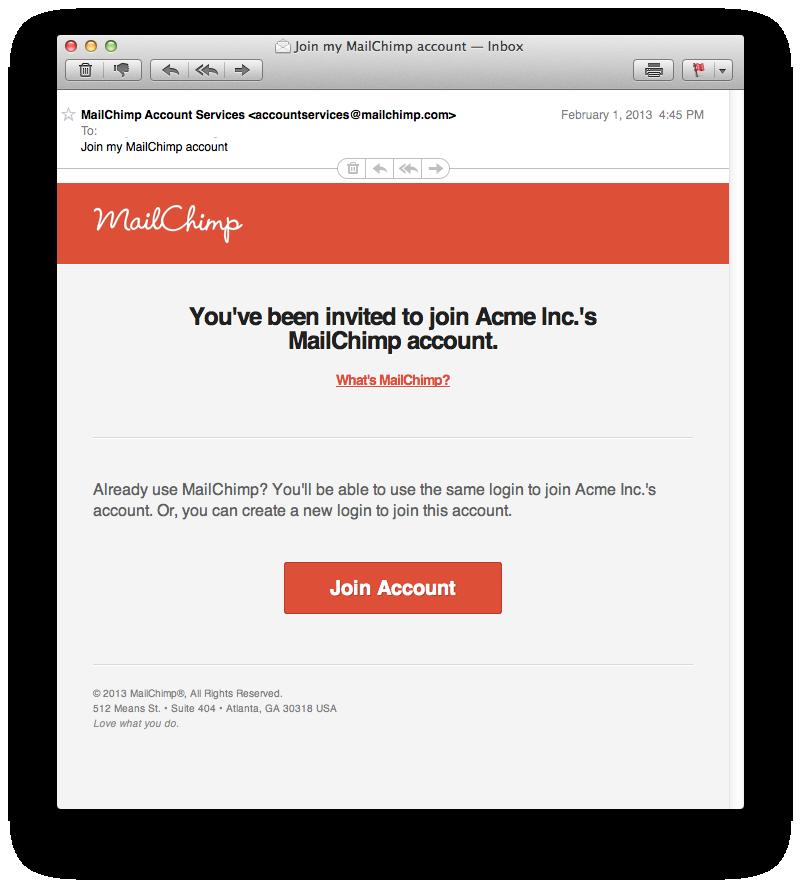 MailChimp Invite - Viral Marketing Message