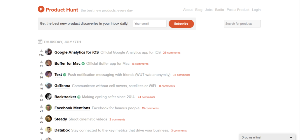 Product Hunt Search - Online Viral Word of Mouth Marketing