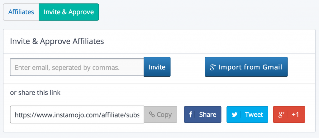 Import Email Invite Affiliates - Viral Branching