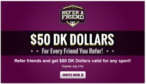 DraftKing DK Dollars Referral - Viral Incentive Marketing