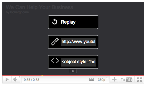 YouTube Viral Marketing Video Share Features Embed Link
