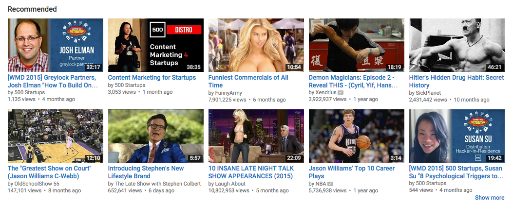 Youtube Recommended Videos - Open Viral Marketing